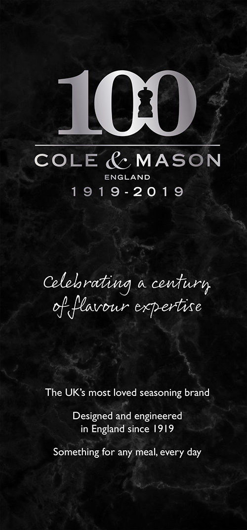 cole & mason 100 years of excellence in salt and pepper mills
