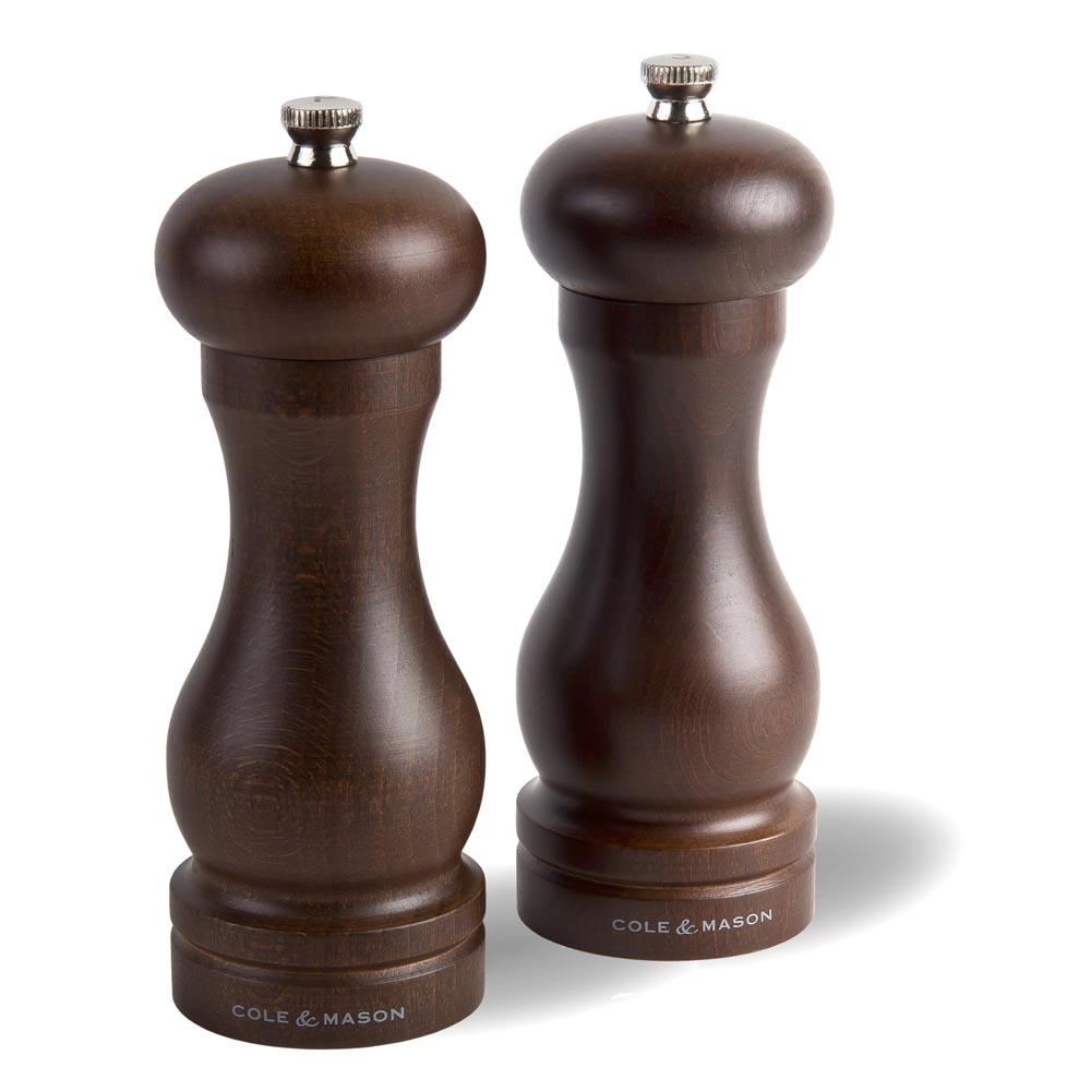 Cole & Mason 6 in. Forest Capstan Wood Salt & Pepper Grinder Gift Set