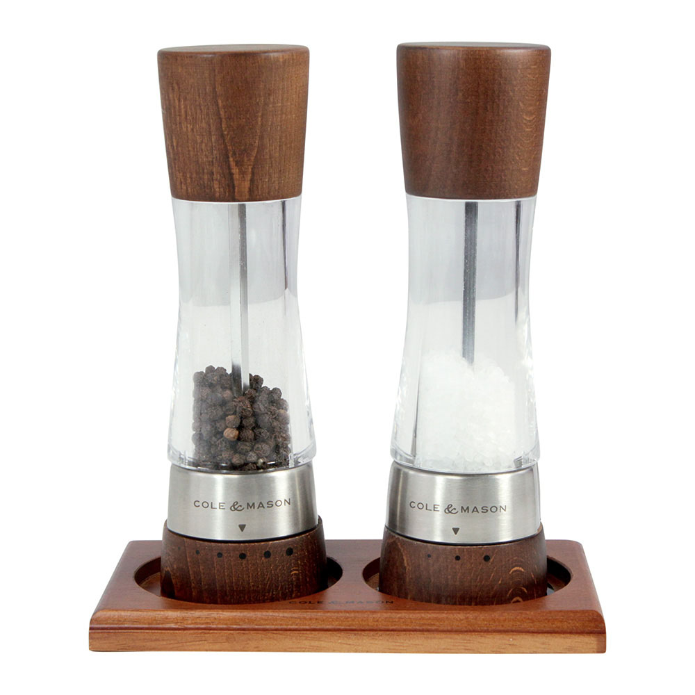 Cole & Mason Salt and Pepper Mill Tray, Wooden