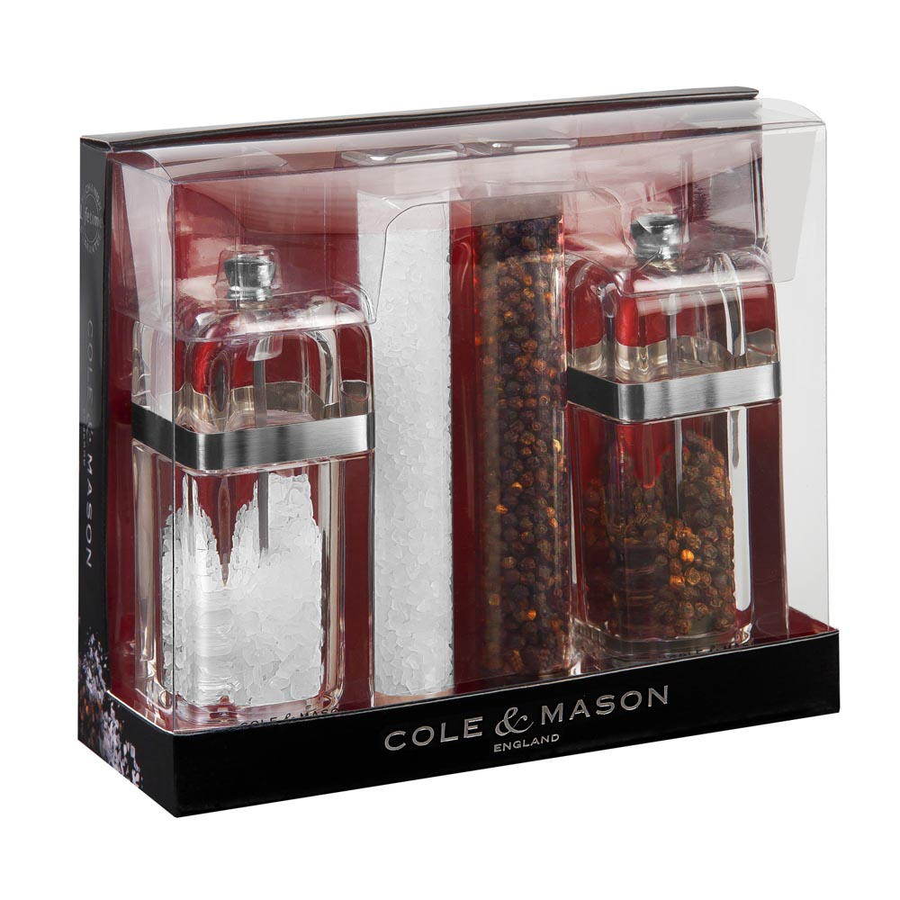 Cole & Mason Gourmet Precision Kempton Salt and Pepper Gift Set with Refills