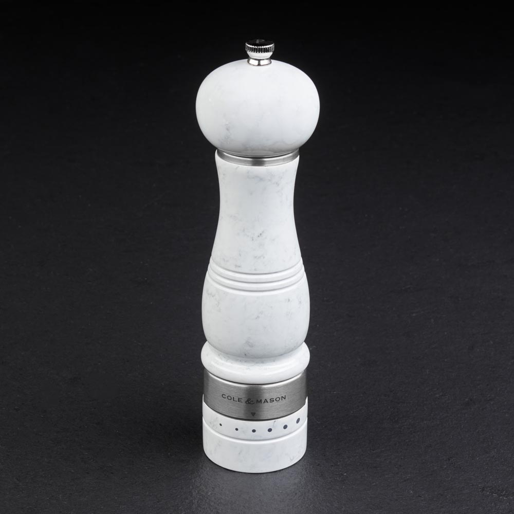 Cole & Mason Ardingly Faux Marble Pepper Mill