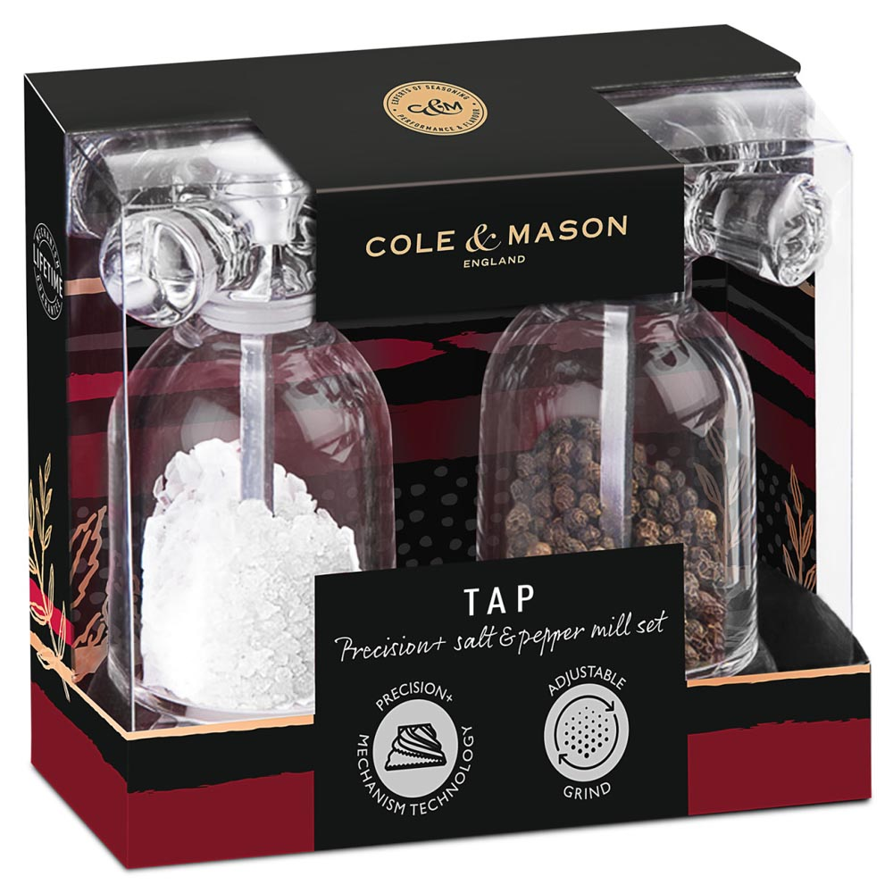 Cole & Mason Precision System Tap Salt & Pepper Mill Gift Set