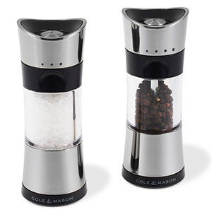 Cole & Mason 6 in. Horsham Salt & Pepper Mill Gift Set, Chrome