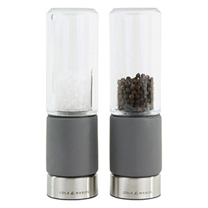 Cole & Mason Regent Concrete Stemless Salt & Pepper Mill Gift Set